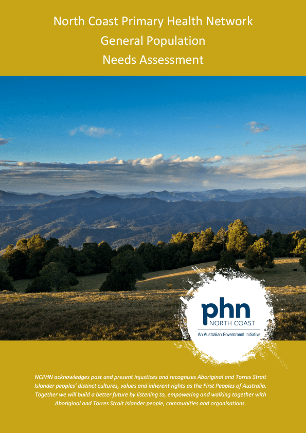 NCPHN Needs Assessment Report 2018 - General Population