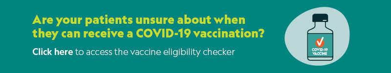 Promotion for vaccine eligibility checker.